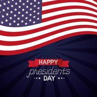 glückliches Präsidententagsfeierplakat mit Flagge