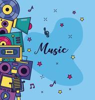 Musik bunten Hintergrund vektor