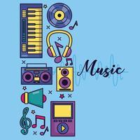musik färgstark bakgrund