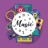 Musik bunten Hintergrund