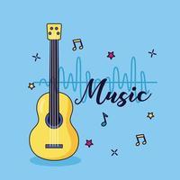bunter Hintergrund der Gitarrenmusik vektor