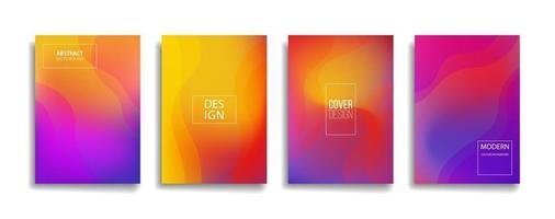 ljus lutning färg abstrakt linje mönster bakgrund täcka design. modern bakgrundsdesign med trendig och levande livlig färg. blå violett röd orange grön plakat affisch vektor täcka mall.