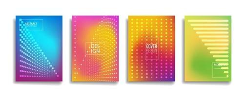 helle Farbverlaufsfarbe abstraktes Linienmuster Hintergrundabdeckungsdesign. modernes Hintergrunddesign mit trendiger und lebendiger, lebendiger Farbe. blau violett rot orange grün Plakat Poster Vektor Cover Vorlage.
