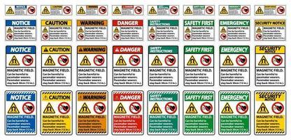 Magnetfeld kann für Schrittmacherträger schädlich sein. Schrittmacherträger bleiben 30 cm zurück