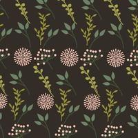schöner Blumen dekorativer Musterhintergrund