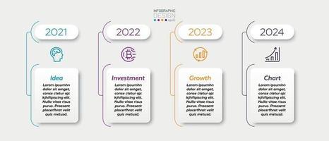 Designquadrate werden verwendet, um Leistung, Wachstum, Marketing, Geschäft und Unternehmen anzuzeigen. Infografik Design. vektor