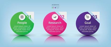 Einfache Designkreise können auf jedes Unternehmen, Marketing, Analyse und Planung sowie für Werbung angewendet werden. Vektor-Infografik.