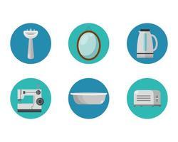 Geräte Flat Style Icon Set