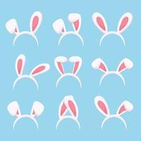 niedliche Hasenohren Stirnband in verschiedenen Formen Osterhasen Kostümzubehör vektor