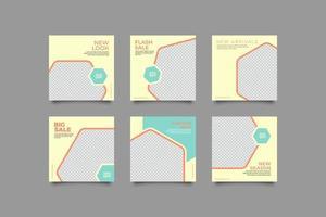 einfache Banner Post Design Vorlage vektor