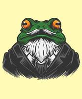 Frosch Büro Mann Illustration vektor