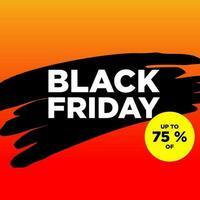 svart fredag banner mall vektor
