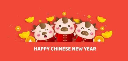 kinesiskt nyår 2021 år av oxbannern