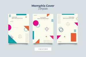 Memphis Styles Broschüre Sammlung vektor