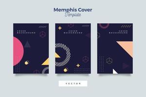 Set von Neo Memphis Style umfasst Sammlung vektor