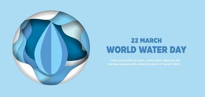 Weltwassertag Hintergrund. vektor