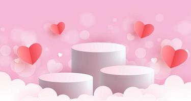 Valentinstag Podien für ein Produkt vektor
