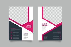 Business Flyer Vorlage mit Platz für Text und Foto vektor