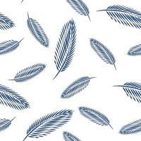 Blätter des nahtlosen Musterhintergrunds der Palme. vektor
