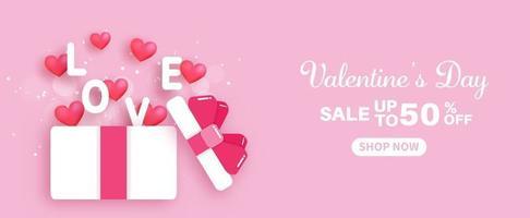 Valentinstag Sale Banner. vektor