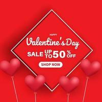 Alla hjärtans dag försäljning banner.