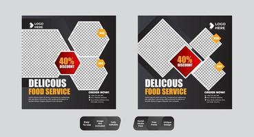 mat och dryck post i sociala medier vektor