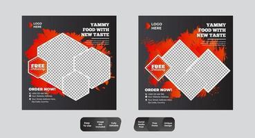 sociala medier postmalluppsättning vektor