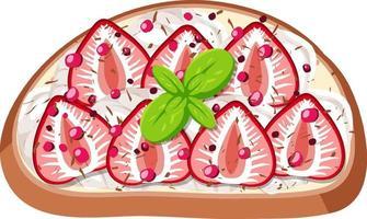 ovanifrån av bröd med fruktpålägg vektor