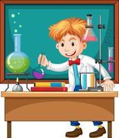 Forscherexperiment im Labor
