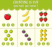 Zahlenarbeit Mathe Arbeitsblatt für Kinder vektor