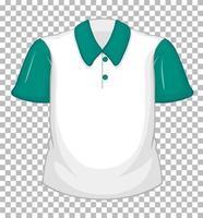 tom vit skjorta med gröna korta ärmar och ficka