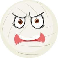 dalboll med ansiktsuttryck på vit bakgrund