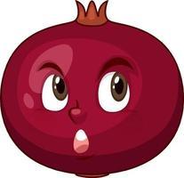 granatäpple seriefigur med ansiktsuttryck vektor