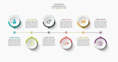 moderne Infografik-Verbindungsvorlage mit 6 Optionen vektor