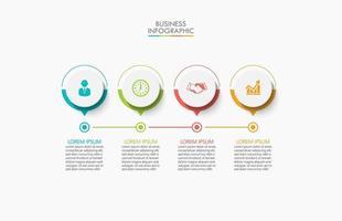 modern infografisk anslutningsmall med 4 alternativ vektor