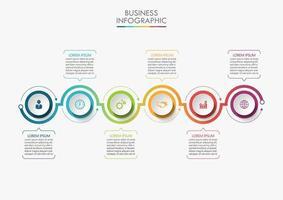 modern infografisk pilanslutningsmall med 6 alternativ vektor