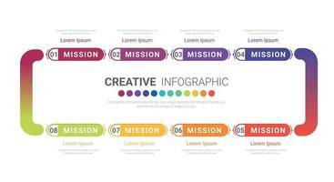 Infografik Design Vorlage mit Nummer 8 Option für die Präsentation vektor