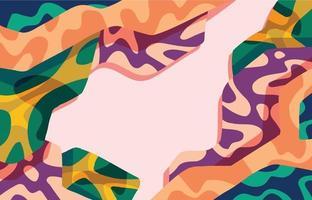 flacher abstrakter Blob-Hintergrund vektor