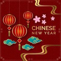 goldenes chinesisches neues Jahr vektor