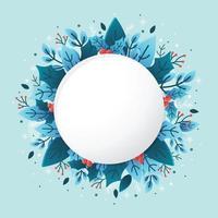 Naturblumen mit blauem Hintergrund vektor