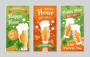 Happy Hour Bier Promotion Banner vektor