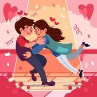 romantisches Date auf der Straße vektor