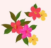 süßes buntes Blumenset