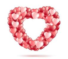 ballong hjärta ram vektor