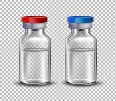 vaccinampuller, spotta för design av medicinska broschyrer. vaccin för covid-19. 3d realistisk stil.