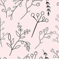 niedlicher nahtloser Musterhintergrund der Blume und des Blattes