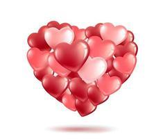 hjärtformade ballonger vektor