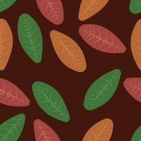 retro blad sömlösa mönster vektor