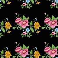 Blume niedlichen Muster näht Hintergrund vektor