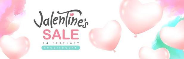 Valentinstag Verkauf Poster oder Banner Hintergrund. vektor